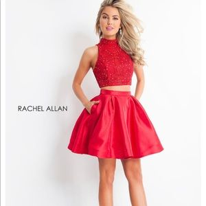 Rachel Allan Homecoming Dress rhinestones corset 0